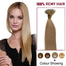16 inches Golden Blonde(#16) Nano Ring Hair Extensions