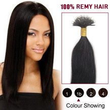 "16"" Natural Black(#1b) Nano Ring Hair Extensions"