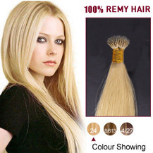 16 inches Ash Blonde(#24) Nano Ring Hair Extensions