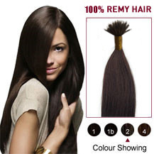 "20"" Dark Brown(#2) Nano Ring Hair Extensions"