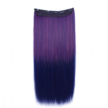 """24"""" Ombre Colorful Clip in Hair Straight 11# Rose/Blue 1 Piece"""