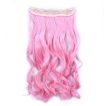 """24"""" Ombre Colorful Clip in Hair Wavy 23# Pink/Pink 1 Piece"""