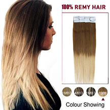 24 inches Ombre (#12/20) Tape In Human Hair Extensions