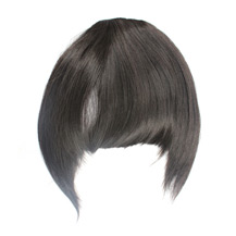 Neat Bang With Hair On The Temples Black 1 Piece