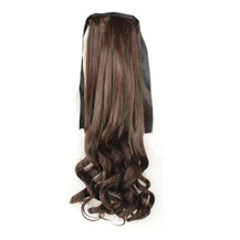 Bundled Fluffy Long Wavy Ponytail Deep Chestnut Brown 1 Piece