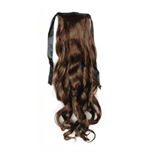 Bundled Long Wavy Ponytail Flax Yellow 1 Piece