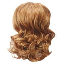 Wavy Hepburn Fluffy Ball Head Bud Head Bun Ponytail Golden Blonde 1 Piece