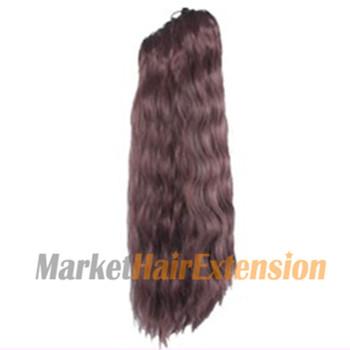 Claw clip Long Corn Curls Ponytail Deep Chestnut Brown 1 Piece