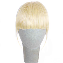 Neat Bang With Human Hair On The Temples White Blonde 1 Piece