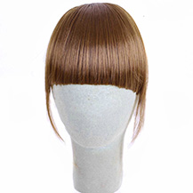 Neat Bang With Human Hair On The Temples Light Brown 1 Piece