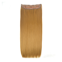 24 inches Strawberry Blonde(#27) One Piece Clip In Synthetic Hair Extensions