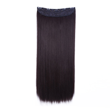 "24"" Medium Brown(#4) One Piece Clip In Synthetic Hair Extensions"