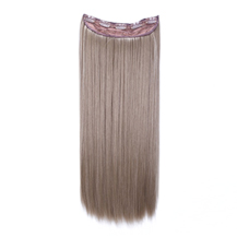 24 inches Ash Brown(#8) One Piece Clip In Synthetic Hair Extensions