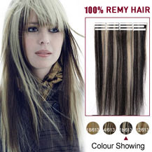 16 inches Black Blonde (#1b/613) 20pcs Tape In Human Hair Extensions