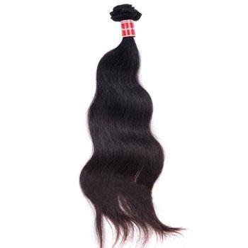 16 inches Natural Black (#1b) Body Wave Peruvian Virgin Hair Weft