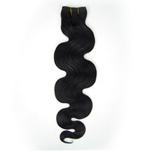 16 inches Jet Black (#1) Body Wave Indian Remy Hair Wefts