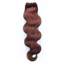 12 inches Dark Auburn (#33) Body Wave Indian Remy Hair Wefts
