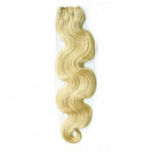 "20"" White Blonde (#60) Body Wave Indian Remy Hair Wefts"