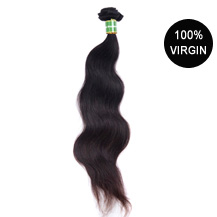 "18"" Natural Black (#1b) Body Wave Brazilian Virgin Hair Wefts"