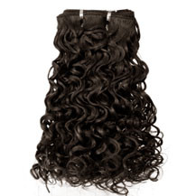 10 inches Medium Brown (#4) Curly Indian Remy Hair Wefts