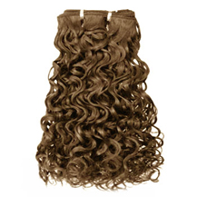 16 inches Ash Brown (#8) Curly Indian Remy Hair Wefts