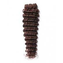 12 inches Medium Brown (#4) Deep Wave Indian Remy Hair Wefts