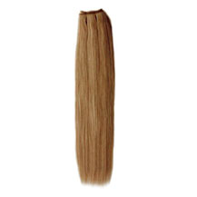12 inches Golden Brown (#12) Straight Indian Remy Hair Wefts