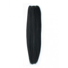 14 inches Natural Black (#1b) Straight Indian Remy Hair Wefts