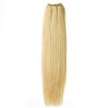 16 inches Ash Blonde (#24) Straight Indian Remy Hair Wefts
