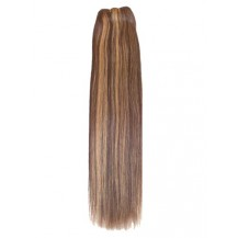 16 inches Brown/Blonde (#4/27) Straight Indian Remy Hair Wefts