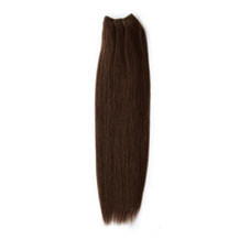 "16"" Medium Brown (#4) Straight Indian Remy Hair Wefts"