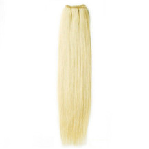 16 inches White Blonde (#60) Straight Indian Remy Hair Wefts