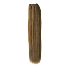 16 inches Ash Brown (#8) Straight Indian Remy Hair Wefts