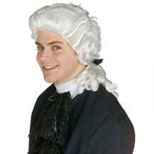 Men's Costume Wig For Party Curly White