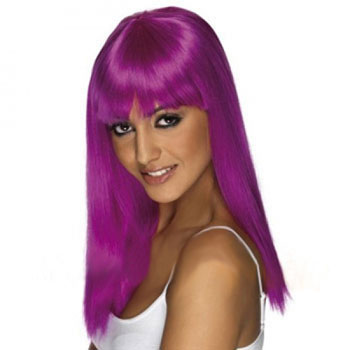 Women's Costume Wig For Party Straight Purple