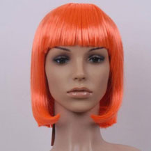 Costume Wig For Party Straight Orange