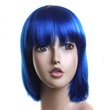 Costume Wig For Party Straight Dark Blue