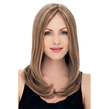 18 inches Human Hair Lace Front Wig Straight Blonde Highlight