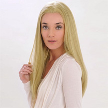 18 inches Human Hair Full Lace Wig Straight Ash Blonde