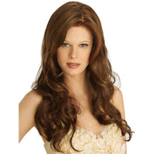 24 inches Human Hair Full Lace Wig Wavy Light Brown