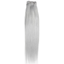 "10"" Silver Grey Hair Extensions Grey Hair Weaves"
