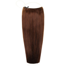 18 inches 50g Human Hair Secret Extensions Medium Brown (#4)