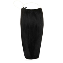 "24"" Human Hair Secret Extensions Jet Black (#1)"
