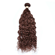 18 inches Weft #33 Dark Auburn Water Wave 1PCS